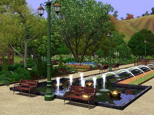 Sims 3 parl, lot, community