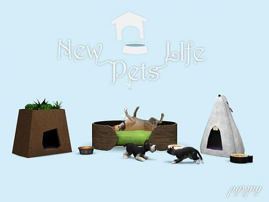 Sims 3 pet, bed, furniture