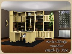Sims 3 study, room, furniture, objects, decorative, recolor