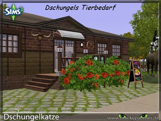 Sims 3 house, lot, residential, community, park, theatre