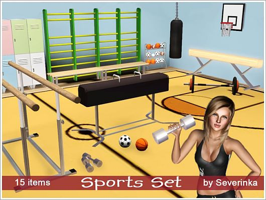 Sims 3 sport, objects, decorative