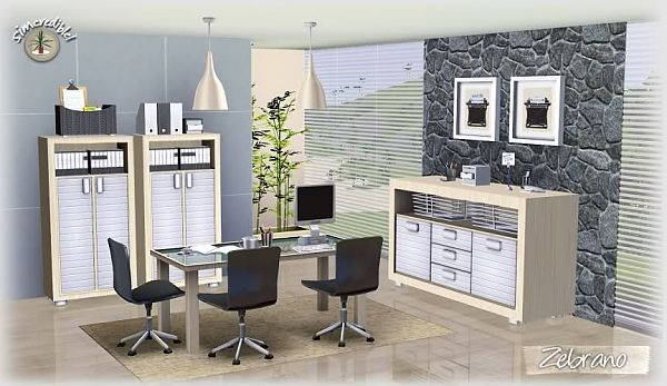 Sims 3 study, room, furniture, objects, decorative