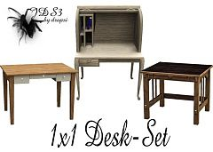 Sims 3 desk, set, furniture, study, chair