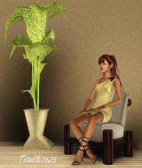 Sims 3 plant, philodendron, decor