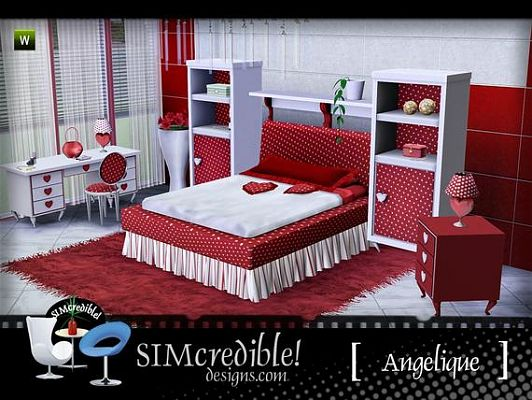 Sims 3 bed, bedroom, furniture, objects, set