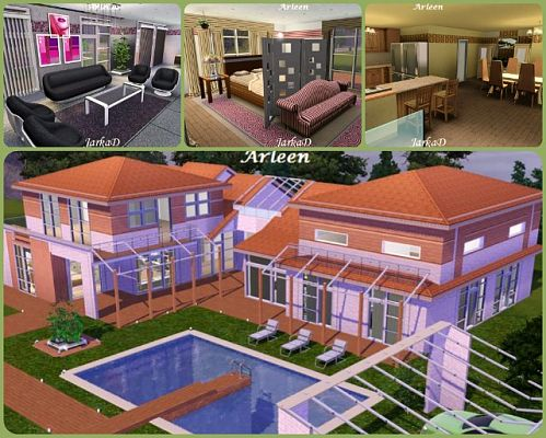 Sims 3 villa, house, lot, residential