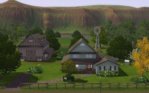 Sims 3 farm, house, lot, residential