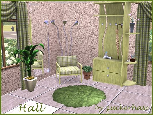 Sims 3 hallway, decorative, objects, recolors
