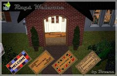 Sims 3 rug, decor, object, welcome