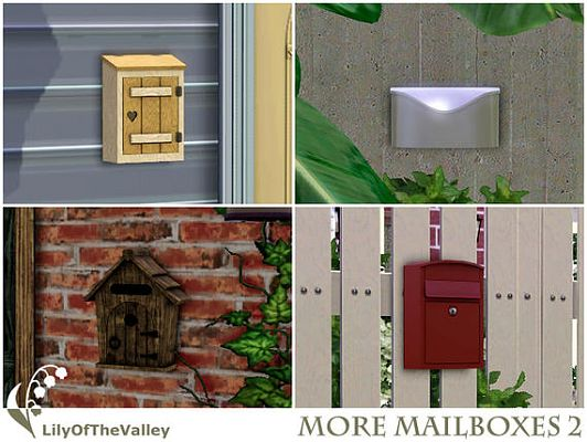 Sims 3 mail, box, objects, outdoor