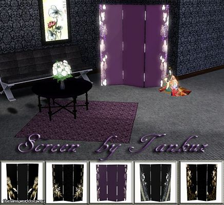 Sims 3 screen, decor, objects