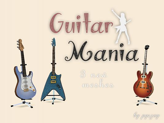 Sims 3 guitar, objects, decor