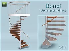 Sims 3 stairs, railings, build