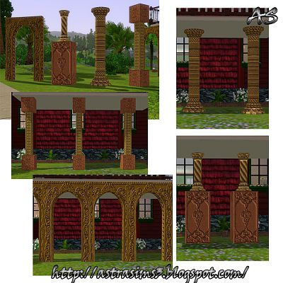 Sims 3 build, objects, columns