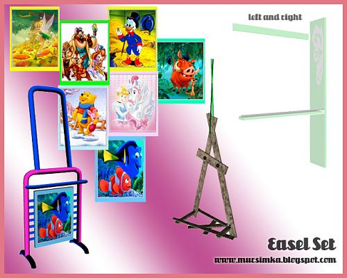 Sims 3 easel, decorative, objects