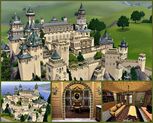 Sims 3 residential, lot, building, house, castle