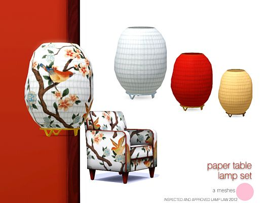 Sims 3 lamps, lighting, objects, decor