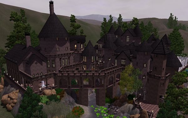 Sims 3 hogwarts, castle, school, lot