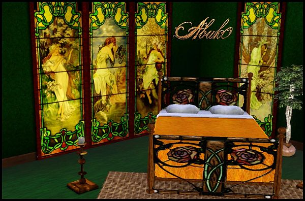 Sims 3 bed, objects, decorative