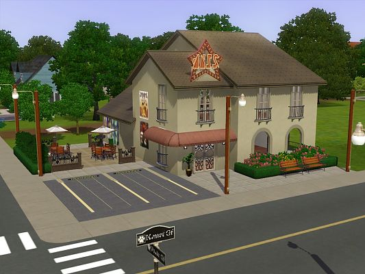 Sims 3 coffee, shop, lot, comunity