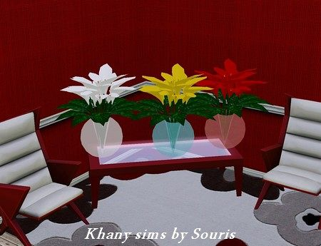 Sims 3 vase, decor, objects, flowers