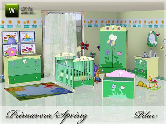 Sims 3 nursery, kids, furniture, bedroom