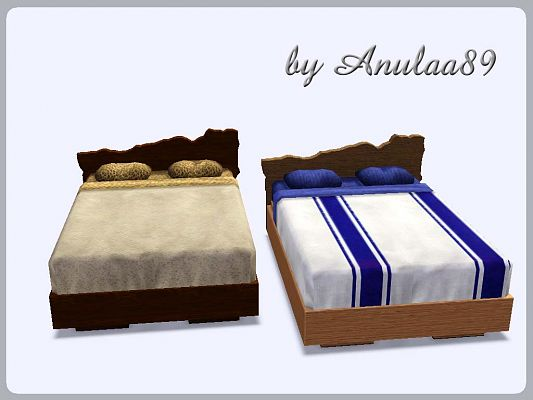 Sims 3 bed, furniture, lamp, conversion