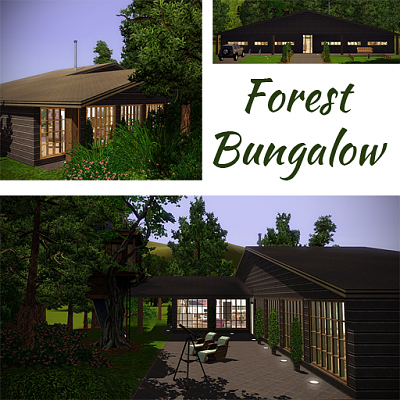 Sims 3 house, lot, residential, bungalow