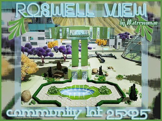 Sims 3 lot, community, space, future