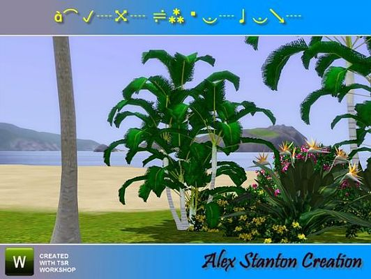 Sims 3 plant, flowers, lutescens