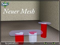 Sims 3 table, heart, valentine, decor