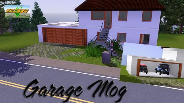 Sims 3 garage, door, mog