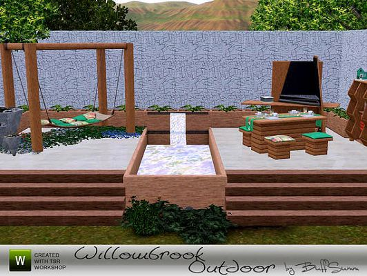 Sims 3 furniture, outdoor, objects, dining