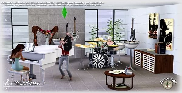 Sims 3 livingroom, furniture, decor, objects