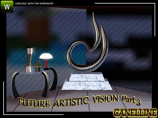 Sims 3 sculptures, objects, decor, floor, lamp