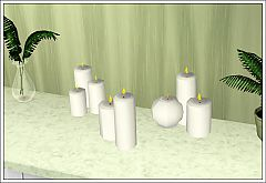 Sims 3 candles, decor