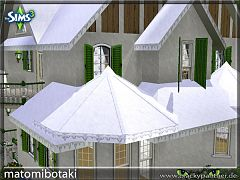 Sims 3 roof, build, pattern, winter