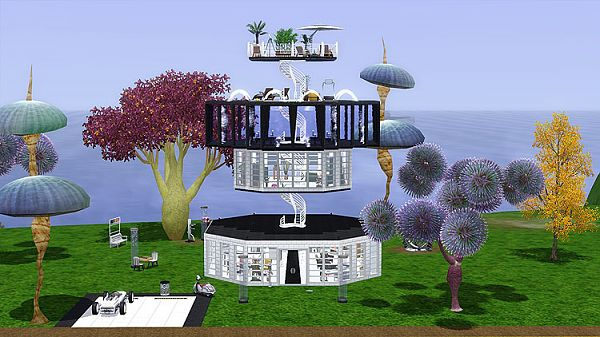 Sims 3 house, lunar, space, lot, residential