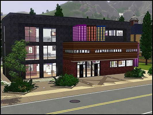 Sims 3 lot, community, art, institute