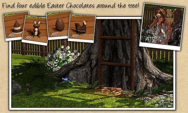 Sims 3 chocolate, easter, egg, bunny, chicken. objects