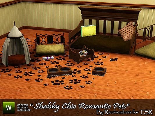 Sims 3 pet, bed, furniture, set, romantic