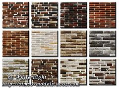 Sims 3 patterns, brick