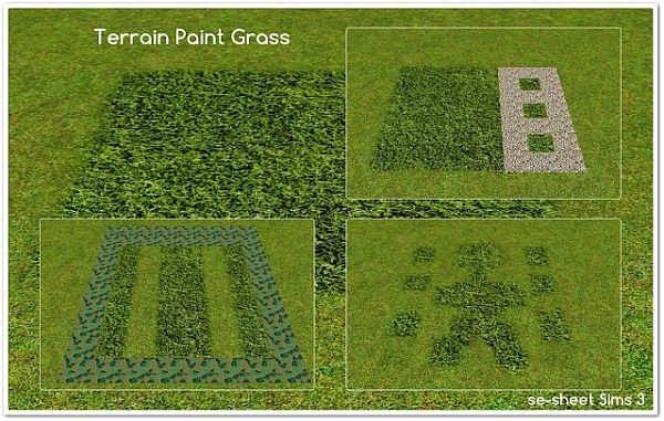 Sims 3 terrain paints, grass
