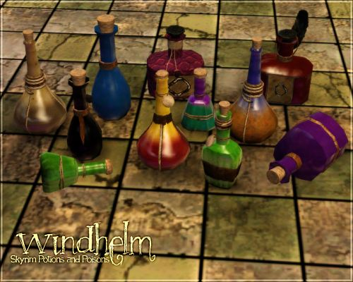 Sims 3 decor, potions, poisons, bottles