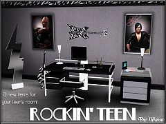 Sims 3 rock, teen, set, furniture