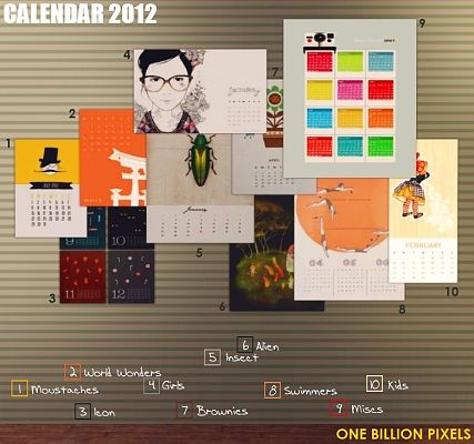 Sims 3 calendar, decorative, objects