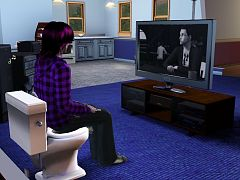 Sims 3 tub, bath, toilet, furniture, object, chair