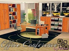 Sims 3 study, room, furniture, objects, office