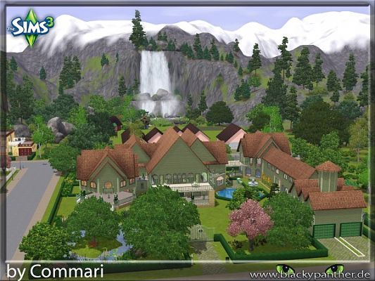 Sims 3 house, lot, residential, villa, community