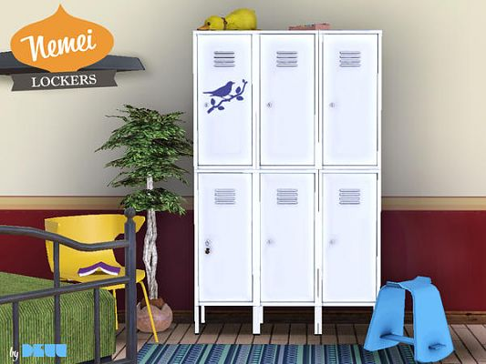 Sims 3 lockers, furniture, objects